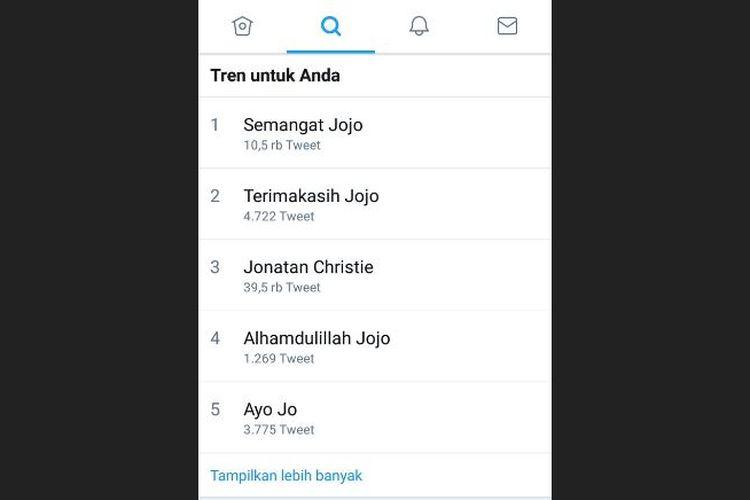 Jojo sempat menguasai Trending Topic Twitter Indonesia saat berlaga di pertandingan final Asian Games, bulu tangkis tunggal putra Selasa (28/8/2018) lalu.
