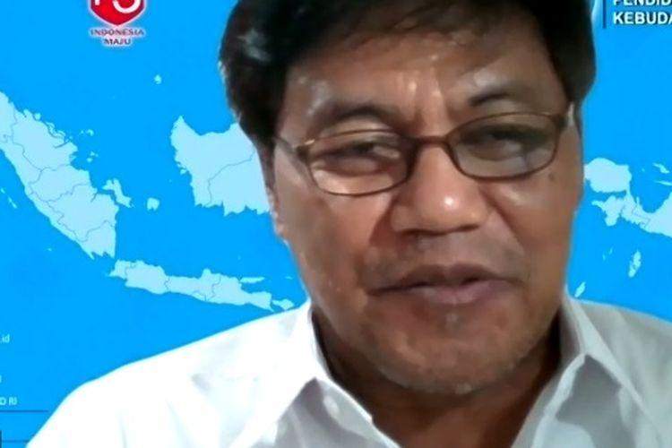 Sekjen Kemendikbud Ainun Naim saat menjadi pembicara dalam acara webinar Inovasi.