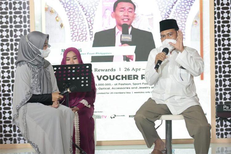 Achmad Sudrajat saat talk show Gerakan CInta Zakat di Kota Kasablanka, Sabtu (1/5/2021).