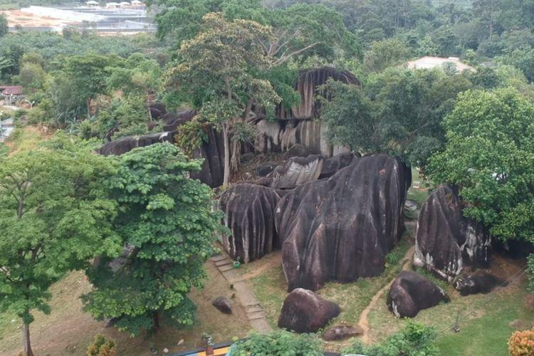 Gugusan Batu Belimbing di Toboali, Bangka Selatan, Rabu (23/6/2021).