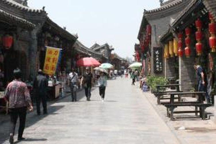 Suasana kawasan turis di Pingyau, Tiongkok.