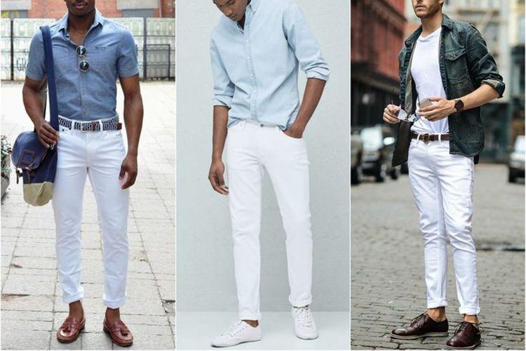Memadukan jeans putih