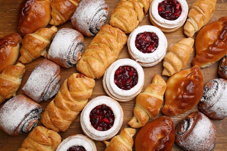 Ilustrasi aneka pastry