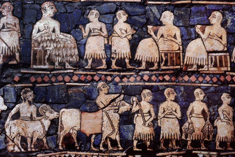 Bangsa Sumeria, bangsa pertama yang mengembangkan peradaban Mesopotamia.