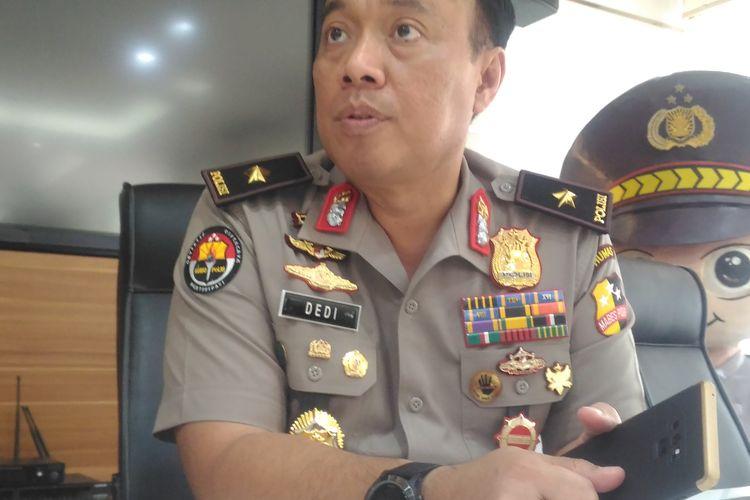 Kepala Biro Penerangan Masyarakat Humas Brigjen (pol) Dedi Prasetyo di Gedung Humas Mabes Polri, Jakarta, Jumat (3/5/2019).