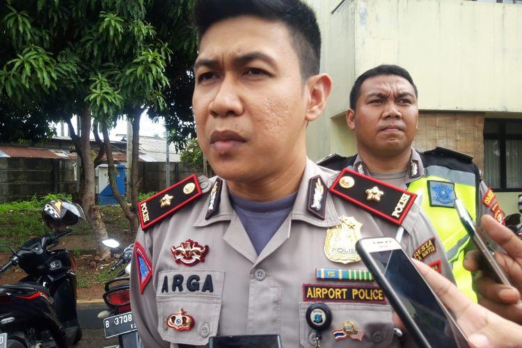 Kasatlantas Polres Bandara Soekarno-Hatta, Kompol Argadija Putra di Asrama Polisi Benteng Tangerang, Senin (6/1/2020)