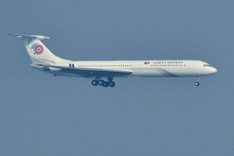 Pesawat kenegaraan Korea Utara yang membawa delegasi tingkat tinggi dari Pyongyang ke Korea Selatan selama perhelatan Olimpiade Musim Dingin Pyeongchang 2018. Pesawat tipe IL-62 tersebut juga digunakan untuk pesawat jet khusus Kim Jong Un.
