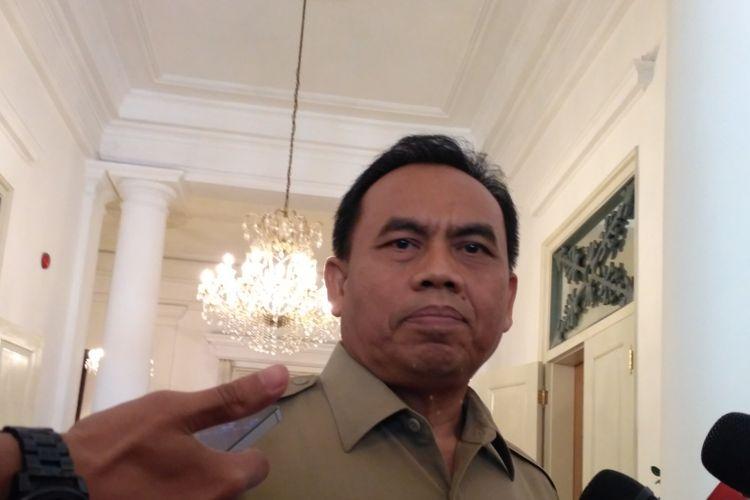 Pelaksana harian Gubernur DKI Jakarta Saefullah di Balai Kota DKI Jakarta, Senin (16/10/2017).