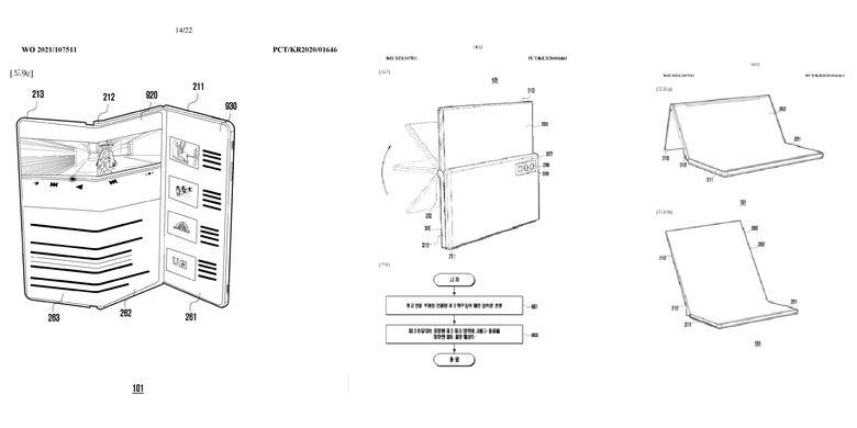 Paten ponsel layar lipat Samsung