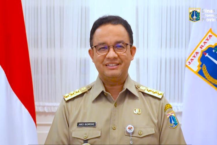 Tangkapan layar video Gubernur DKI Jakarta Anies Baswedan mengucapkan selamat Natal bagi umat kristiani, Jumat (25/12/2020)