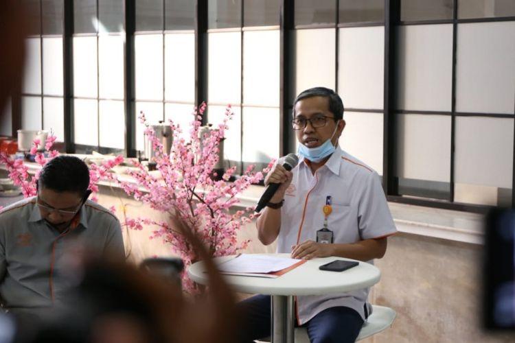 Direktur Jaringan dan Layanan Keuangan PT Pos Indonesia (Persero), Ihwan Sutardiyanta dalam jumpa pers yang berlangsung di Jakarta, Senin (6/7/2020) (Dok. PT Pos Indonesia)