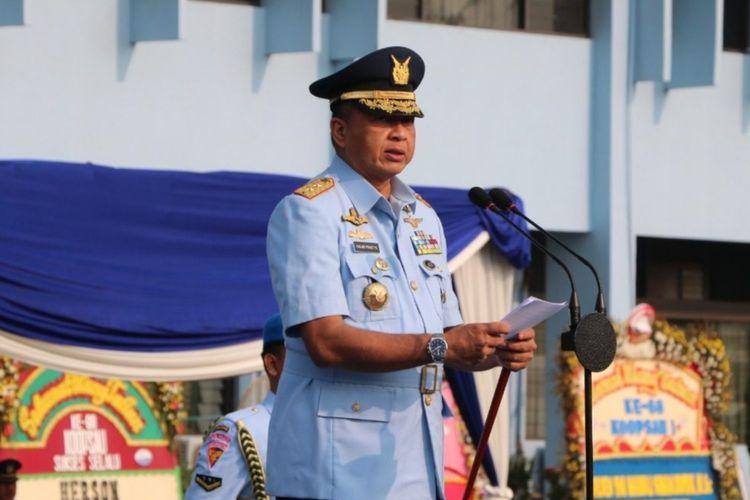 Marsekal Madya Fadjar Prasetyo resmi dilantik menjadi Kepala Staf Angkatan Udara (KSAU) oleh Presiden Joko Widodo.