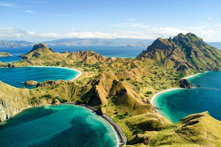 Ilustrasi Nusa Tenggara Timur - Pulau Padar.