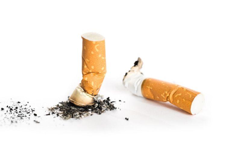 Ilustrasi puntung rokok.