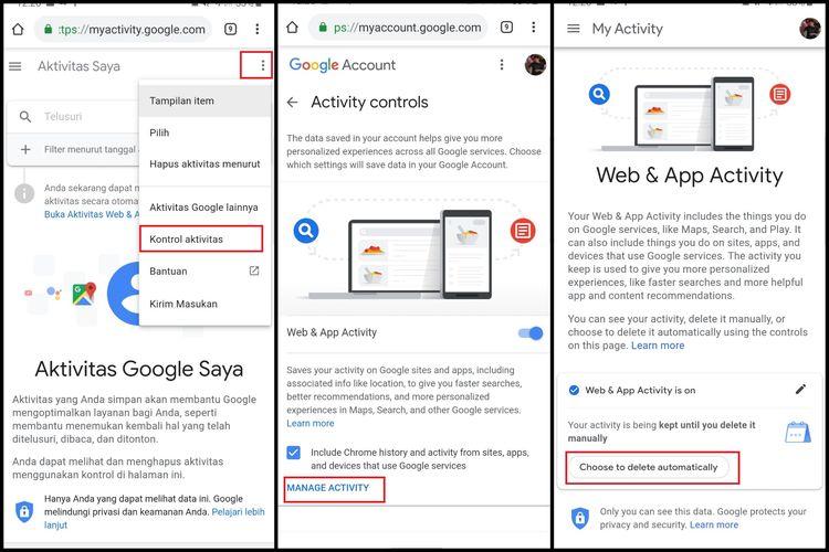 Cara Menghapus Riwayat Internet Dan Lokasi Di Google Secara Otomatis