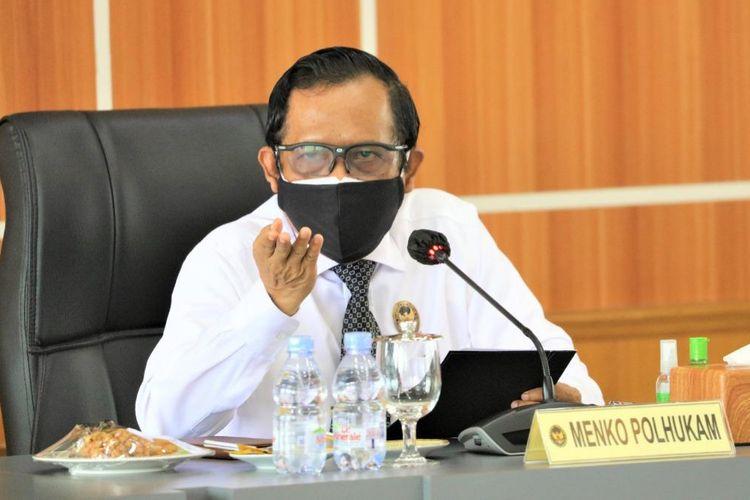 Menkopolhukam Mahfud MD di Kemenkopolhukam, Jakarta, Rabu (30/6/2021).
