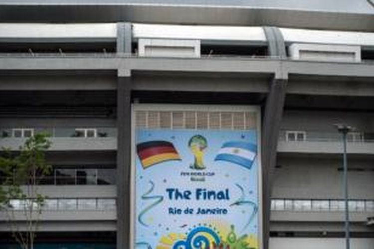 Laga final Piala Dunia 2014 antara Jerman melawan Argentina akan dihelat di Estadio Maracana, Rio de Janeiro, Minggu (13/7/2014).