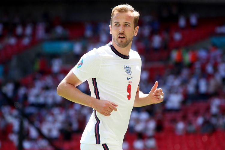 LONDON, INGGRIS - Harry Kane saat membela Inggris menghadapi Kroasia dalam laga Grup D Euro 2020 di Stadion Wembley, pada 13 Juni 2021.