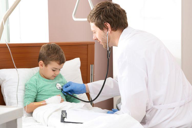Ilustrasi anak sakit