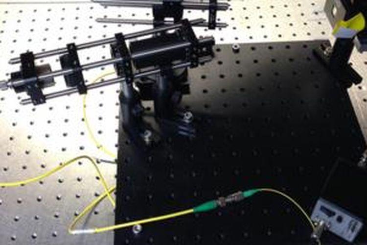 Sistem LiFi dalam percobaan