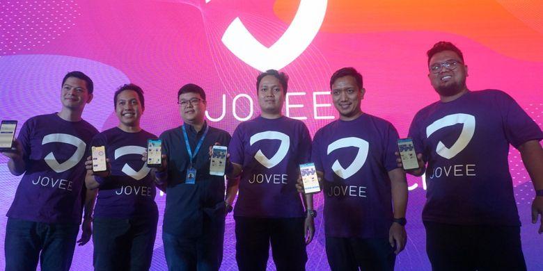 Peluncuran aplikasi pendukung gaya hidup sehat Jovee di Jakarta (5/12).
