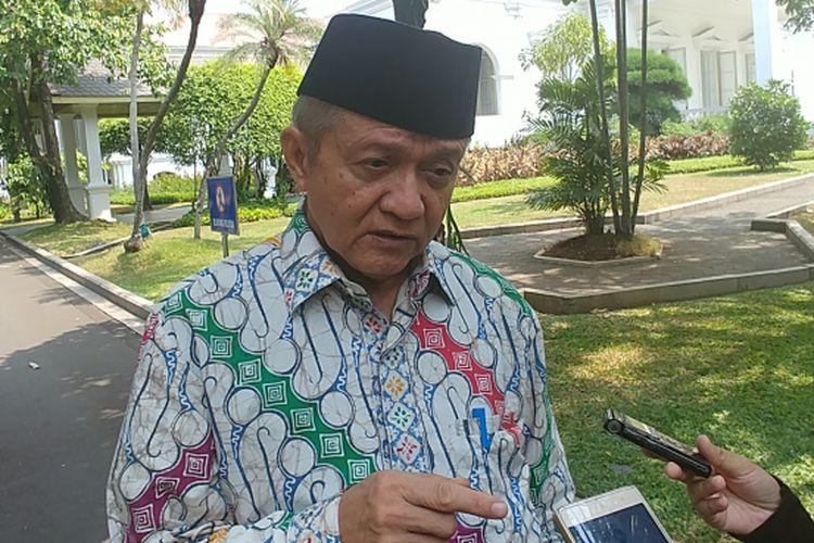 Ketua PP Muhammadiyah Anwar Abbas di Istana Kepresidenan, Jakarta, Rabu (6/9/2017).