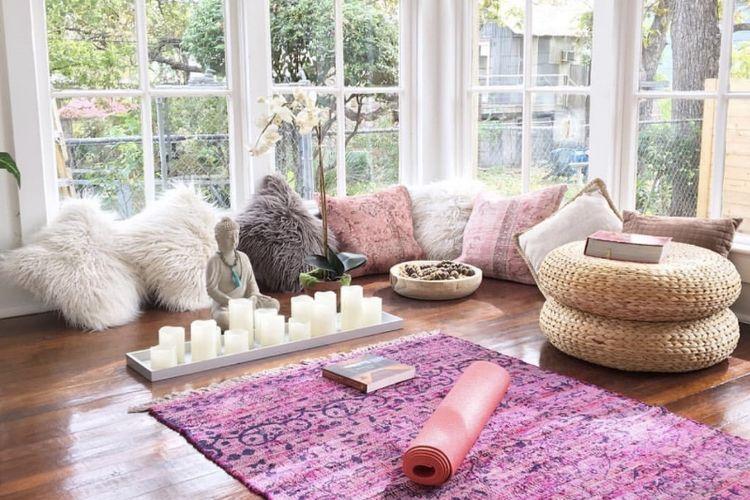 Desain ruang meditasi.