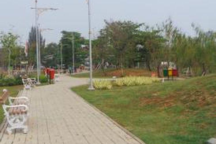 Kondisi Taman Ria Rio di Kayu Putih, Pulogadung, Jakarta Timur. Senin (21/9/2015).