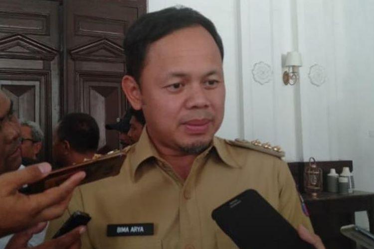 Wali Kota Bogor Bima Arya Sugiarto saat ditemui usai rapat evaluasi PPDB di Balai Kota Bogor, Senin (1/7/2019).