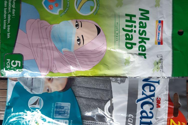Contoh masker yang dijual di Indomaret