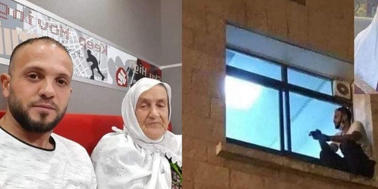 Jihad Suwaiti memanjat tembok rumah sakit demi bisa melihat dan menghibur ibunya setiap malam sampai ibunya meninggal dunia akibat infeksi Covid-19.