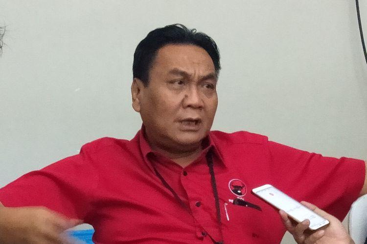 Bambang Wuryanto di DPP PDIP, Menteng, Jakarta Pusat, Rabu (8/1/2020).