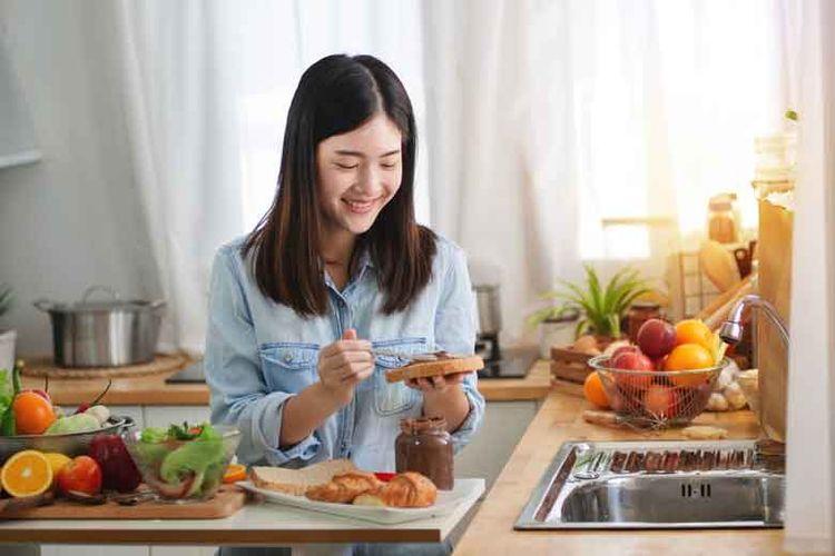 Ilustrasi penerapan pola makan sehat