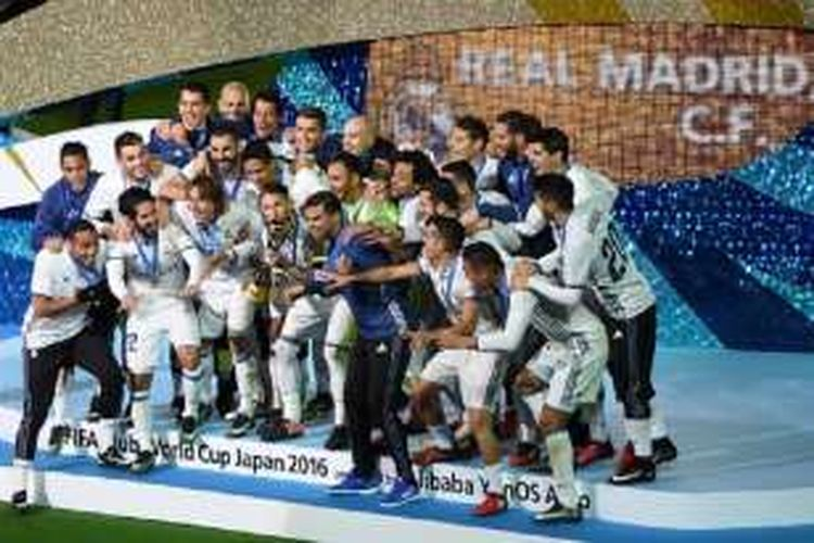 Real Madrid menjuarai Piala Dunia Antarklub seusai menang 4-2 atas Kashima Antlers, Minggu (18/12/2016).