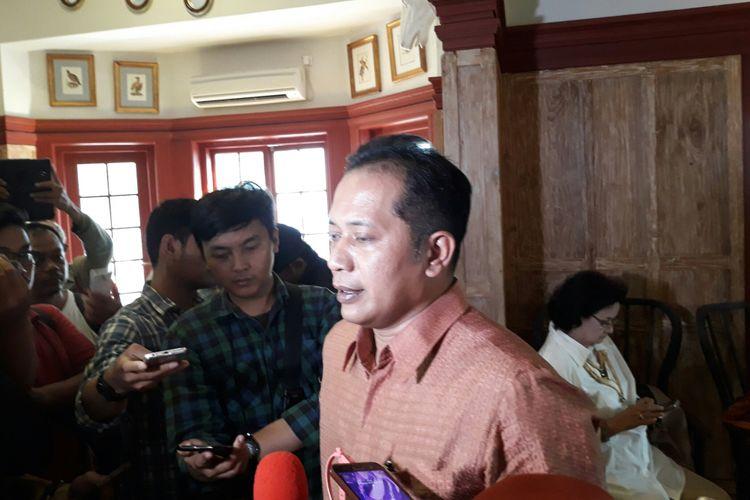 Wakil Ketua Umum DPP Partai Gerindra Ferry Juliantono di Jakarta, Rabu (2/5/2018).