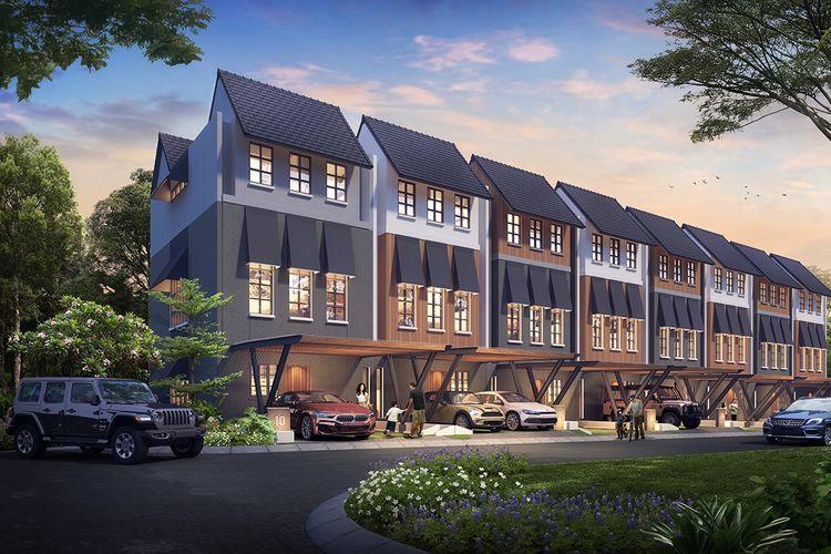 Kawasan hunian landed house Synthesis Huis, Tipe Lang (6x15m). Kawasan ini dirancang dengan gaya Skandinavia dan berlokasi di Cijantung, Jakarta Timur.