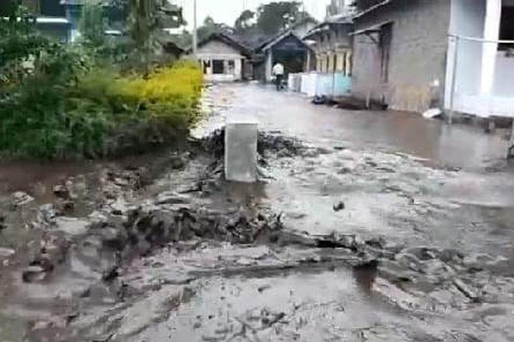 Kondisi banjir lumpur di Dusun Pesanggrahan Desa Sempol Kecamatan Ijen Kabupaten Bondowoso