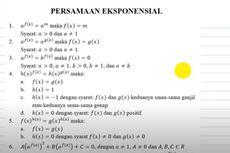 Himpunan Penyelesaian dari Persamaan Eksponensial, Jawaban TVRI