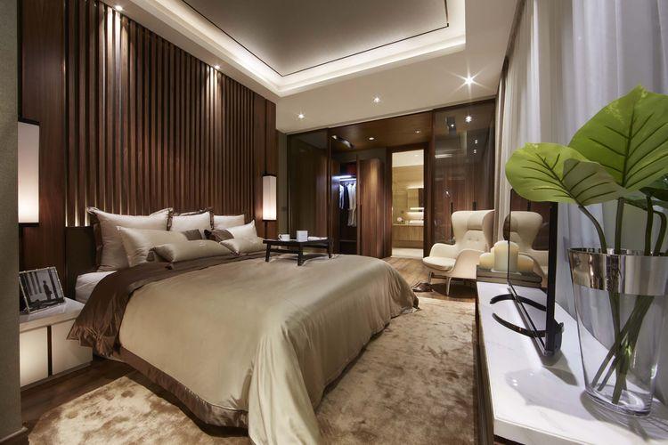 Kamar tidur pada unit apartemen The Elements, Kuningan, Jakarta