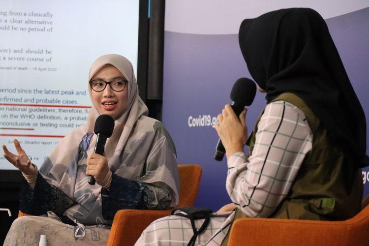 Tim Pakar Gugus Tugas Percepatan Penanganan Covid-19 Dewi Nur Aisyah