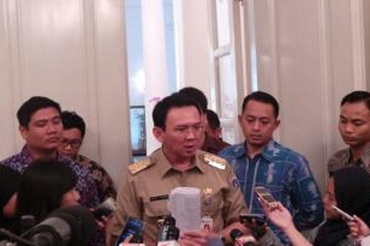 Gubernur DKI Jakarta Basuki Tjahaja Purnama, di Ballroom Balai Kota.