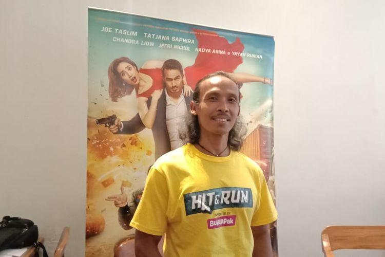Yayan Ruhian menghadiri buka puasa bersama dengan para pemain film Hit & Run di Lewis & Carroll di Kebayoran Baru, Jakarta Selatan, Senin (20/5/2019).