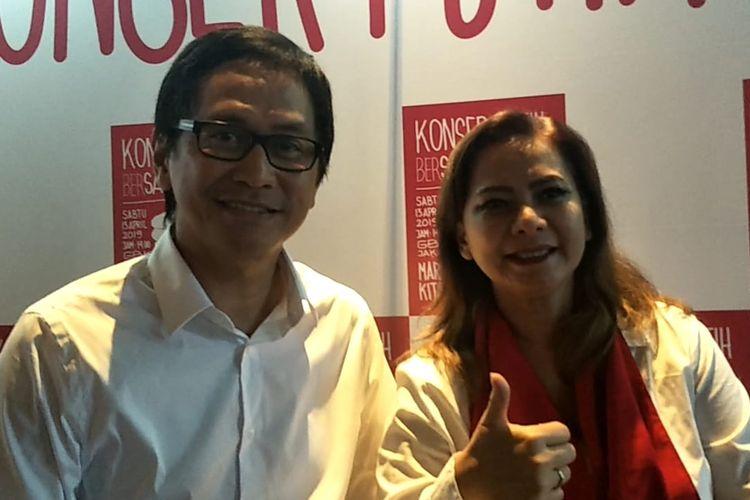 Addie MS dan Memes saat ditemui di kawasan Kuningan, Jakarta Selatan, Senin (8/4/2019).