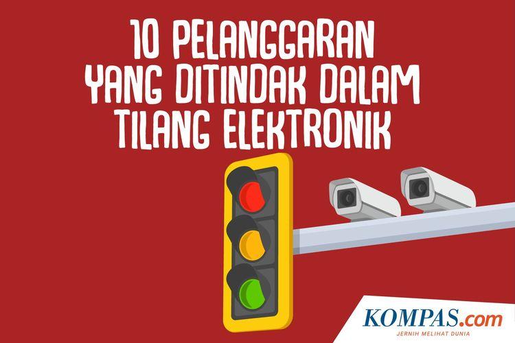 10 Pelanggaran yang Ditindak dalam Tilang Elektronik