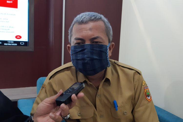 Wakil Juru Bicara Gugus Tugas Percepatan Penanganan Covid-19 Sukoharjo, Bejo Raharjo di Sukoharjo, Jawa Tengah, Senin (8/6/2020).