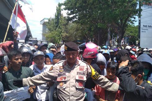Ratusan Pelajar Makassar Demo di Gedung DPRD Sulsel