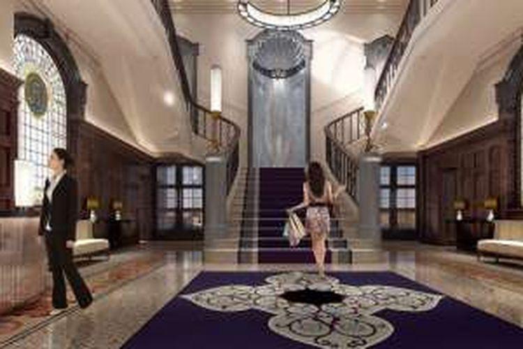 Courthouse Hotel dilengkapi dengan bioskop berkapasitas 196 kursi, arena bowling, restoran mewah, kolam air hangat indoor, dan spa mewah.