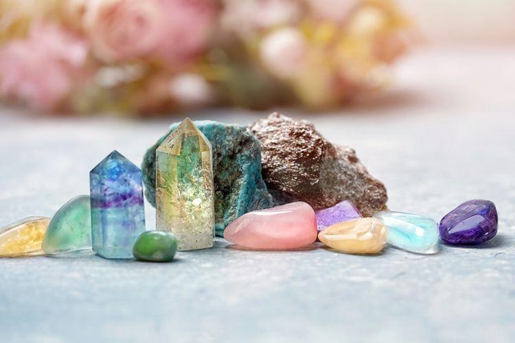 Ilustrasi batu kristal