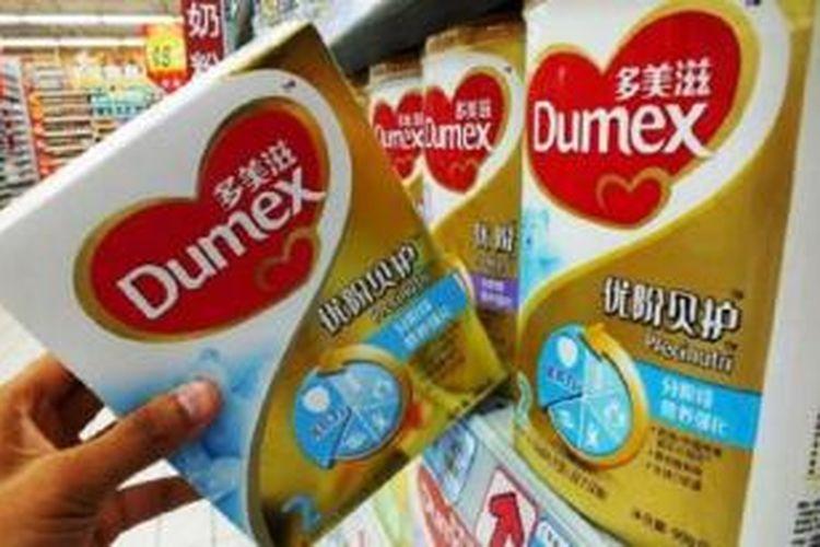 Susu formula buatan Perancis yang dipasarkan di supermaket di China