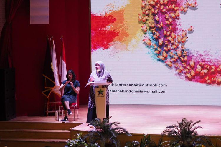 Lisda Sundari, Ketua Lentera Anak.